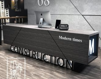 Modern concept industrial style reception counter for clothing store ,coffee shop and spa salon.