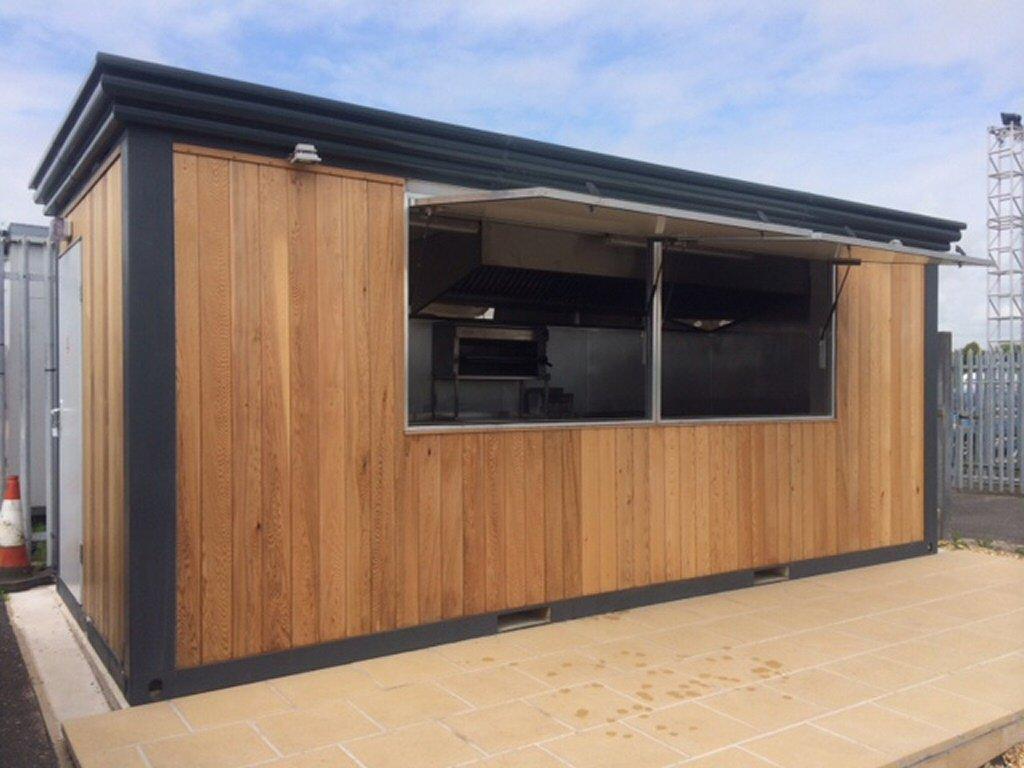Durable use outdoor kiosk fast food outdoor kiosk design