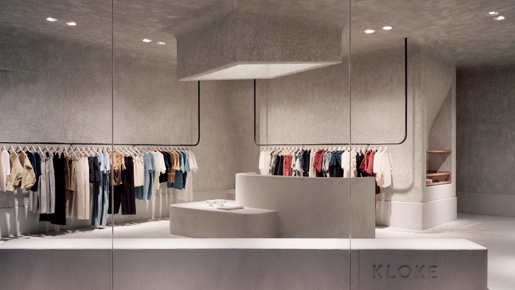 New idea for concrete clothing store interior decoration furniture ...