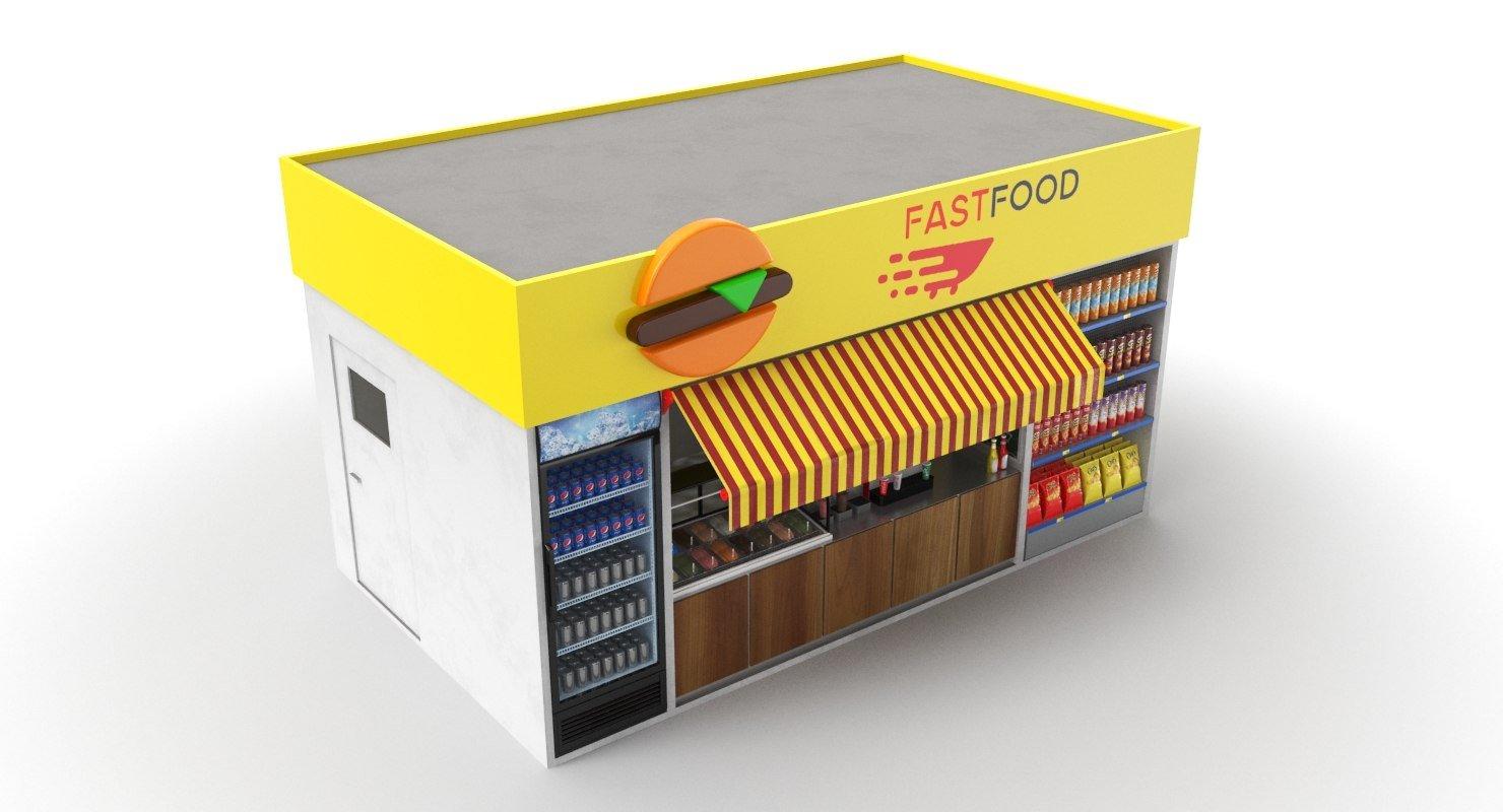 street vending food booth