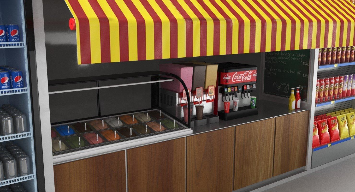 food kiosk display