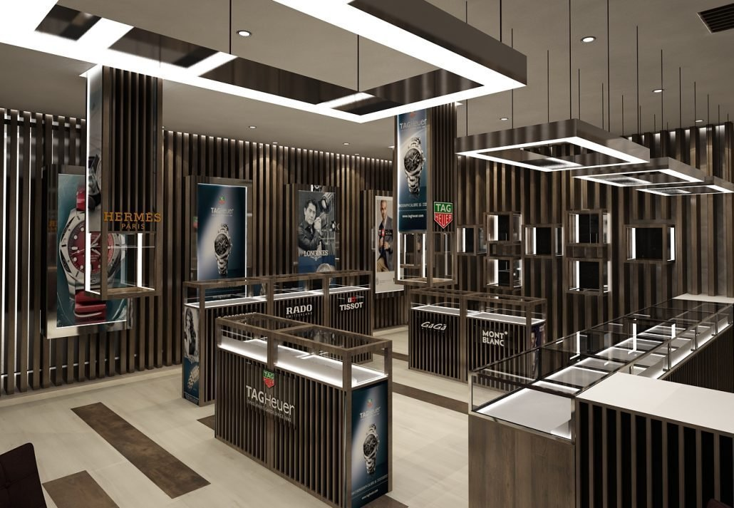 Luxury Watch Store interior design ideas with Modern Watch ...