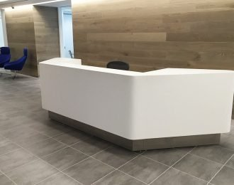 HI-MACS®Solid Surface Custom Office reception Counter For Sale