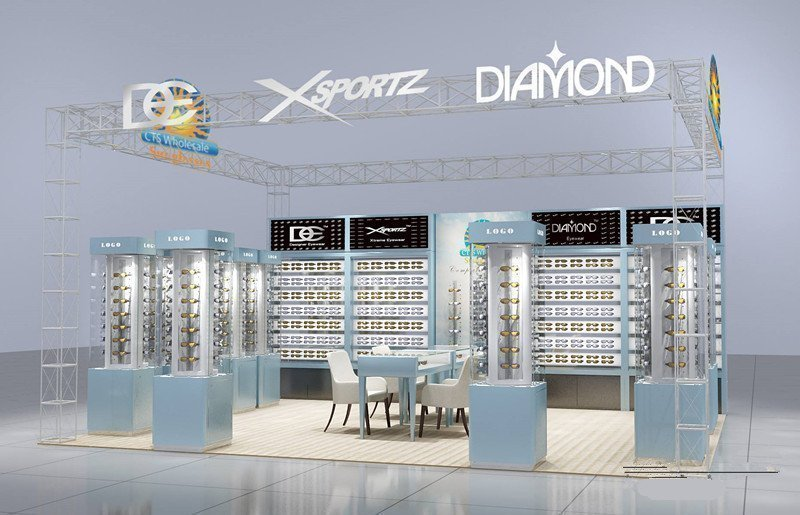 Modern Optical Shop Furniture With Glasses Display Stand