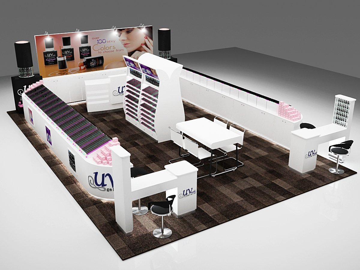 Exhibition Stand For Sale : Nail polish exhibition kiosk hot sale display stand for nail