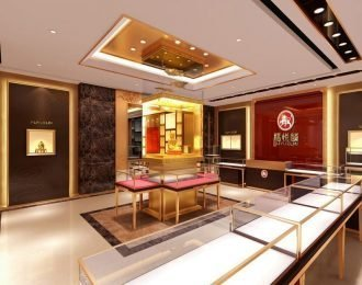 Jewelry retail store interior design