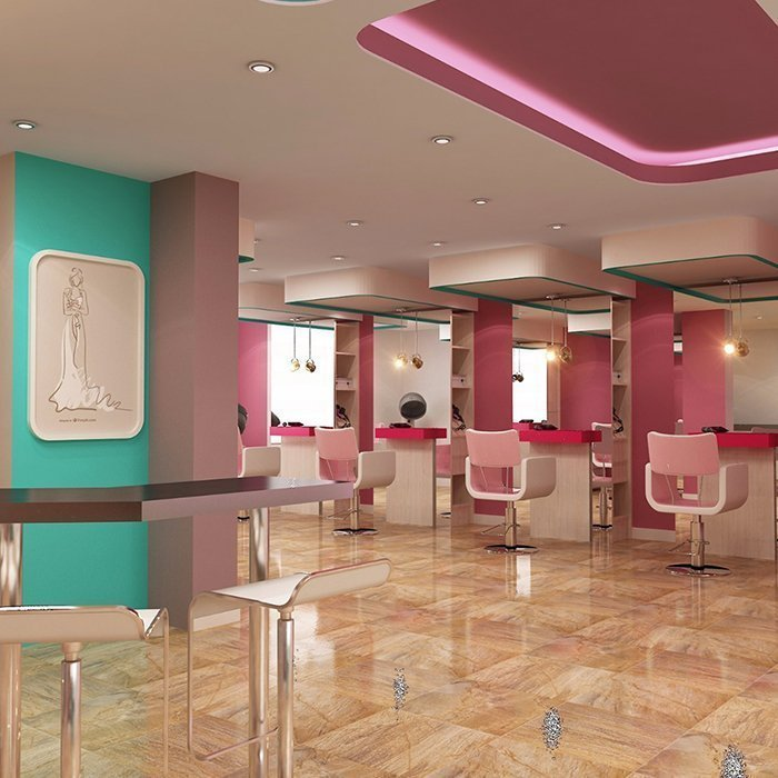 Elegant Hair Salon Shop Design Barber Shop Furnitures For Lady