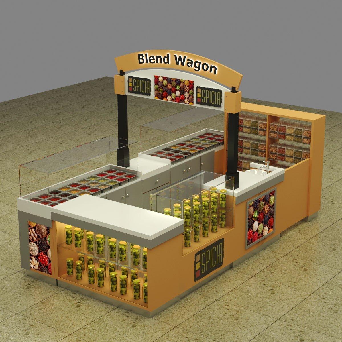 spices display kiosk