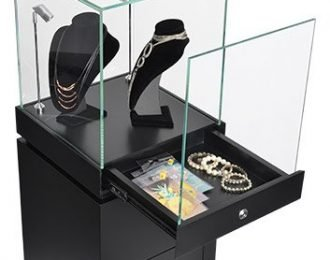Lighted Jewelry Display Cases | Pedestal Glass Display Showcase & Stands For sale