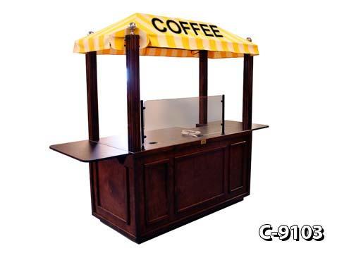solid wood coffee carts