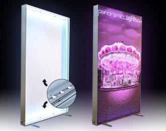 China Free Standing Frameless LED Fabric Lightbox