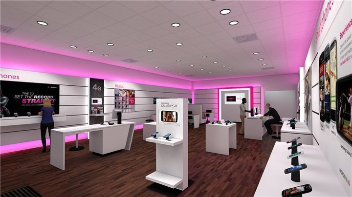 5G cell phone store design