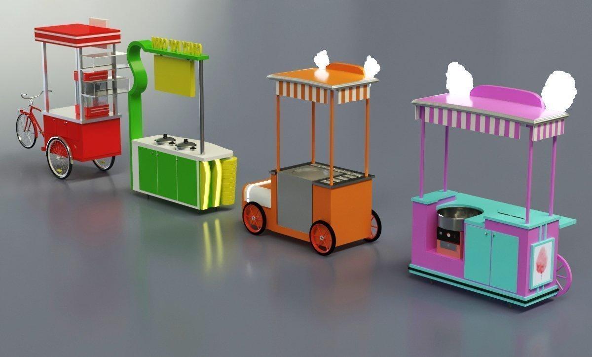 sweet corn cart