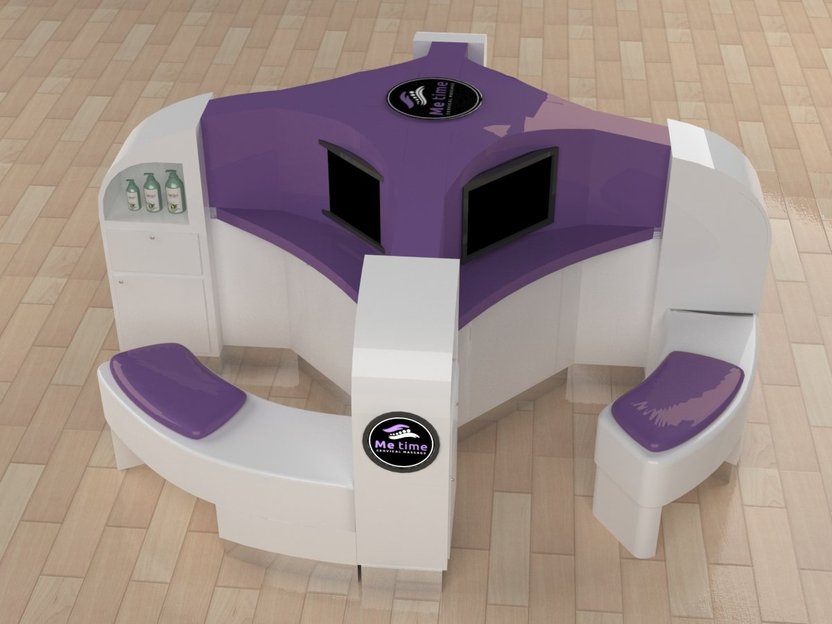 massage kiosk 3d design