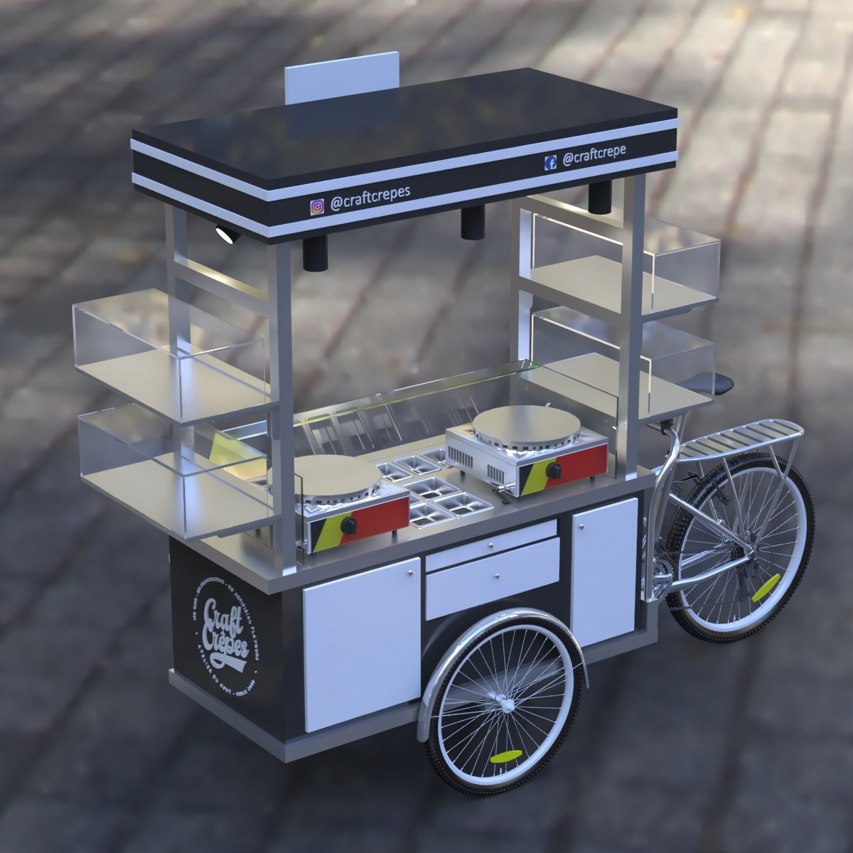 crepe mobile cart