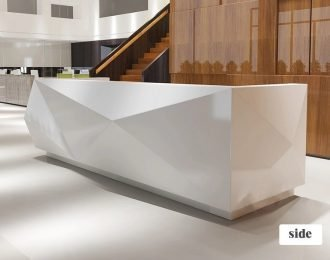 Modern design l shaped front office salon reception desk for sale