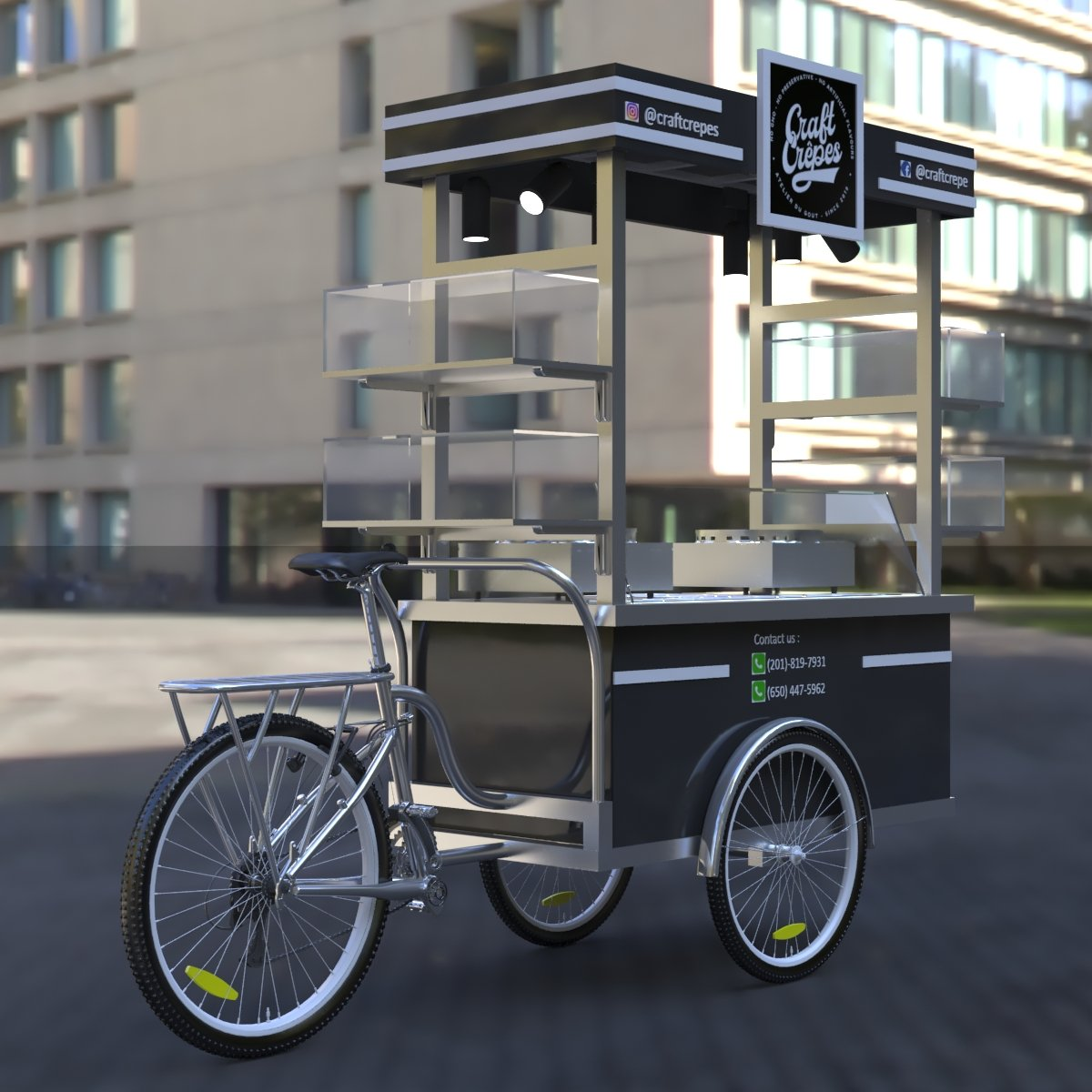 crepe food cart