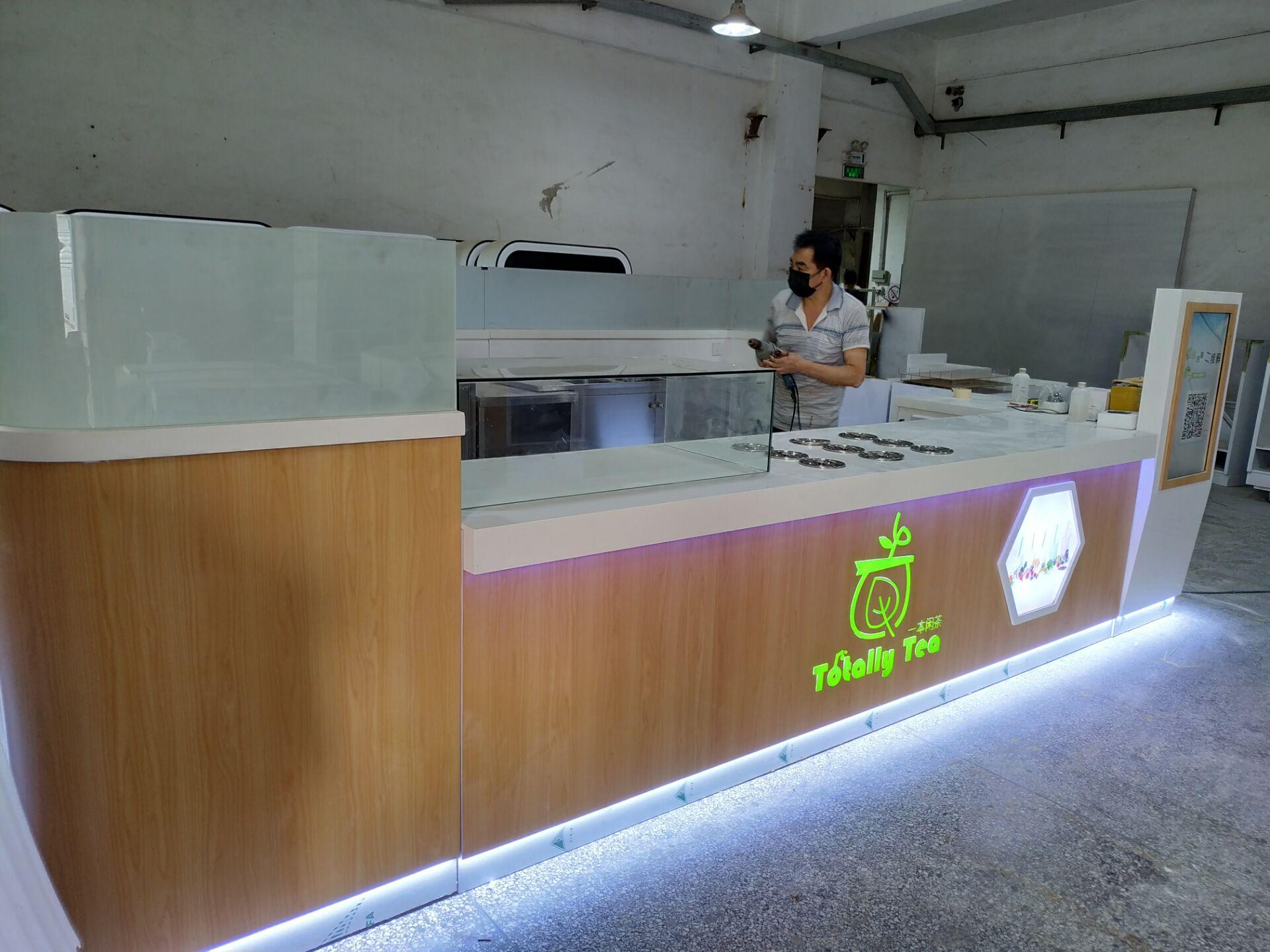 Milk tea kiosk production picture