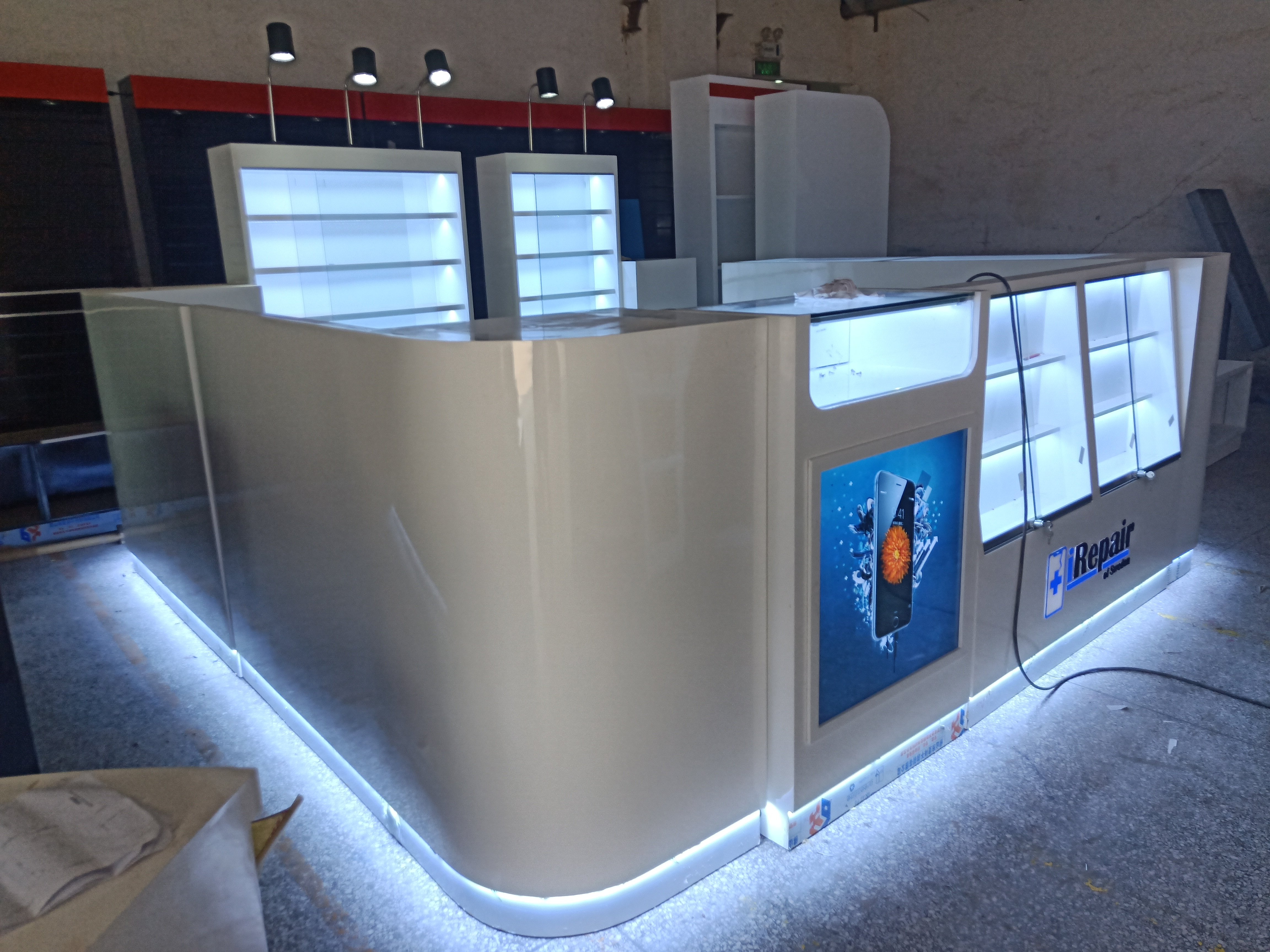 Mobile phone accessories kiosk production picture