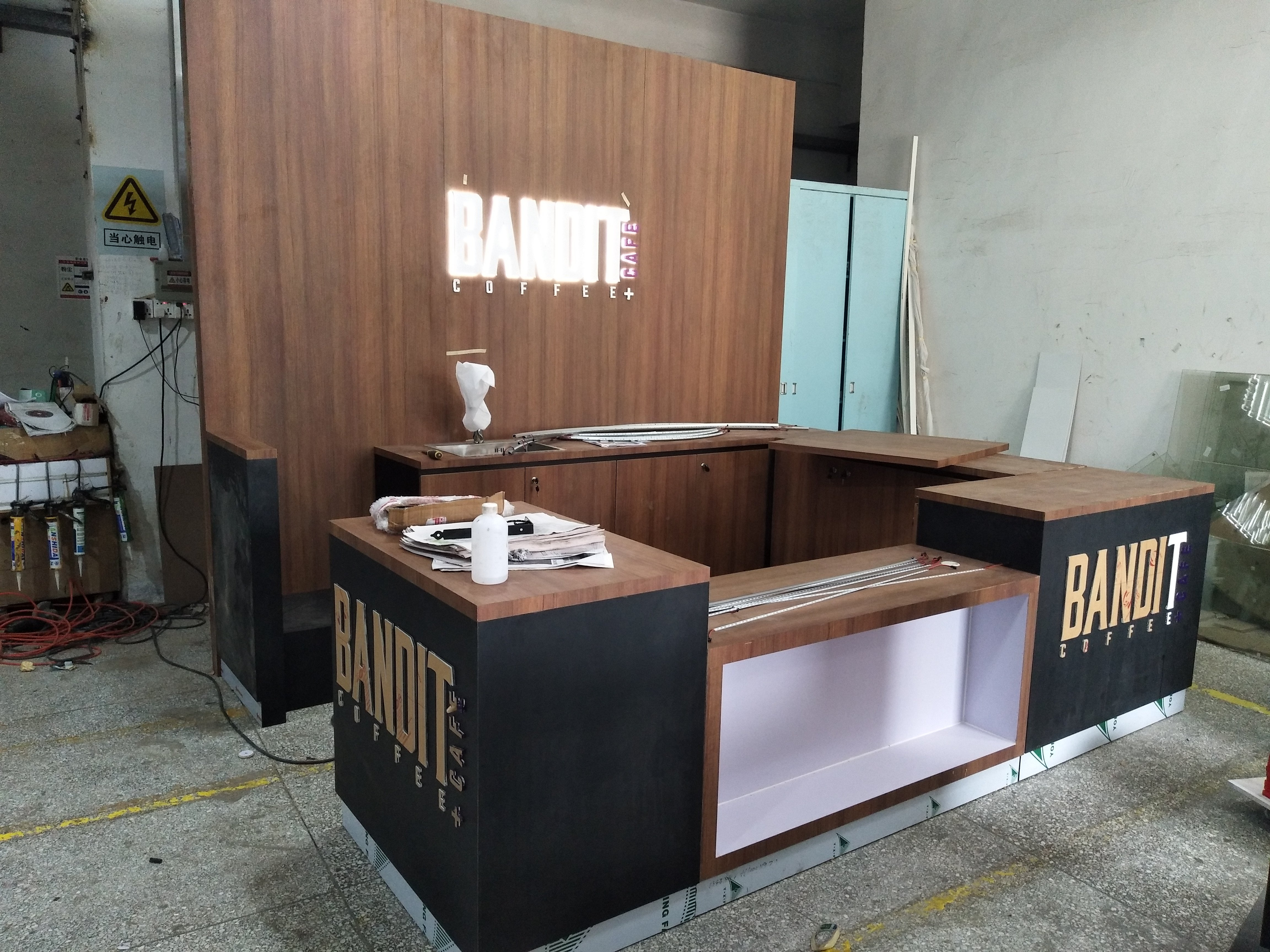The production picture of Bandit coffee kiosk