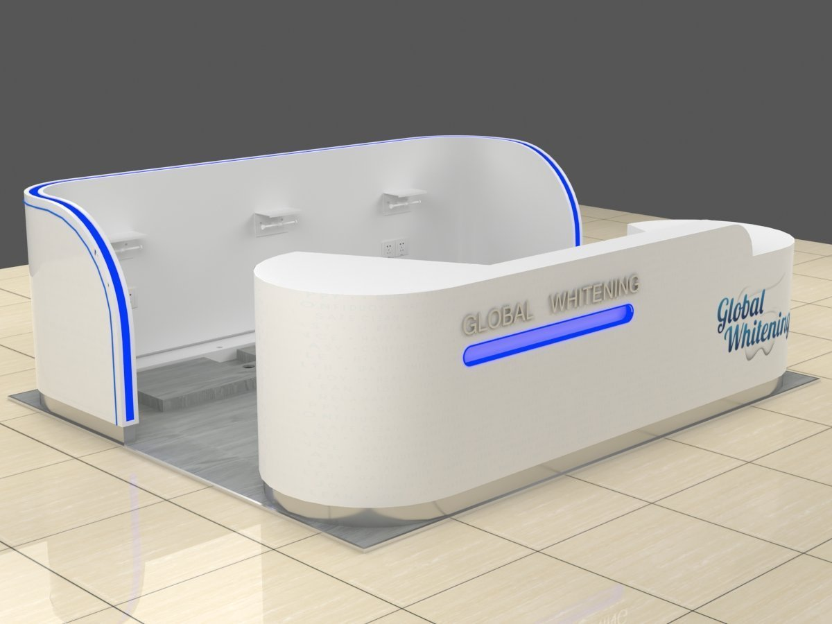 3d design for the teeth whitening kiosk