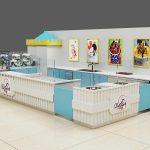 ice cream display showcase