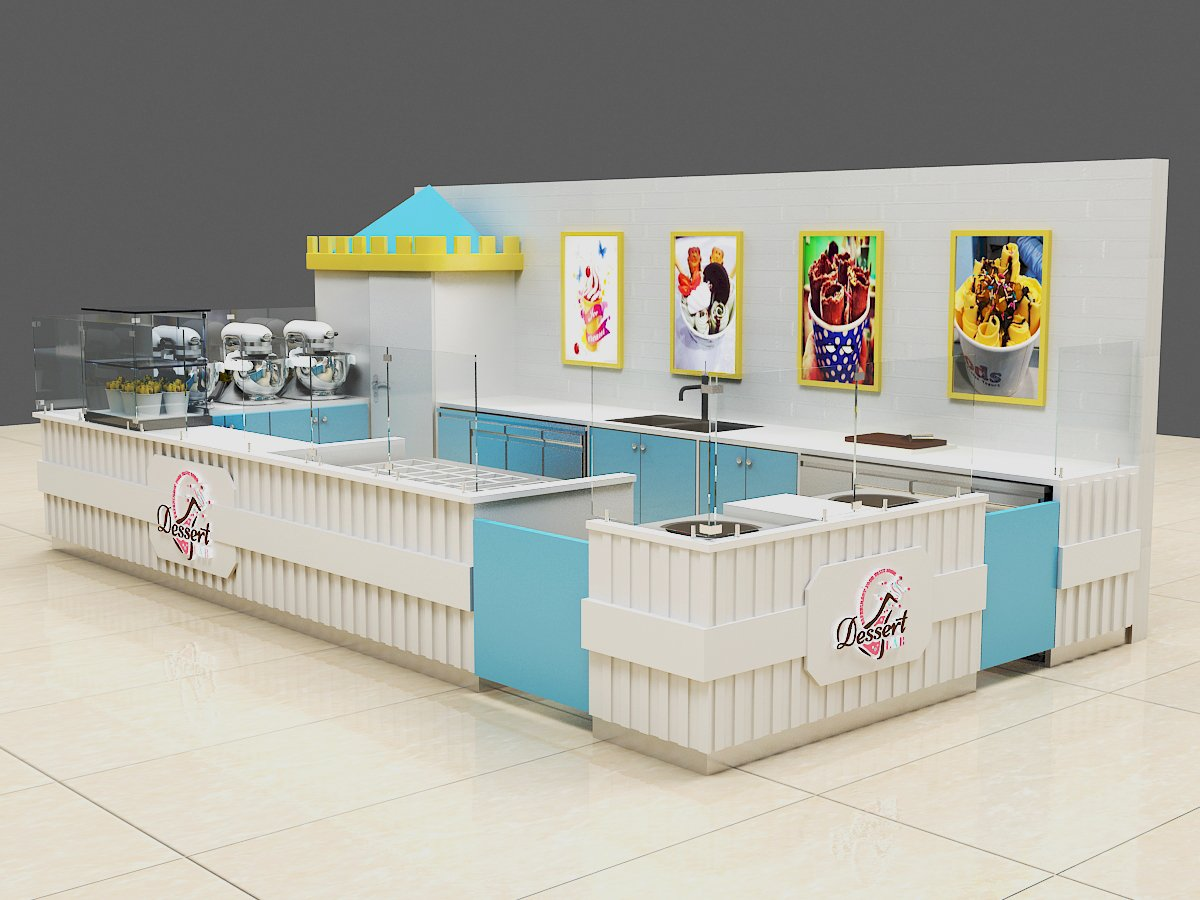 ice cream display showcase