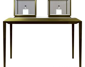 48″ Jewelry Display Counter with 2 square countertop display cases