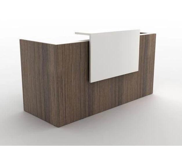 cool custom reception desk furniture | Custom small standing wood laminate guest reception desk ...