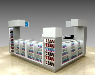 Mall Cell Phone Case Kiosk Design