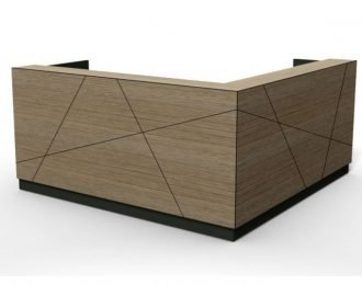 Low price but unique feature tile line Wooden reception desk for office