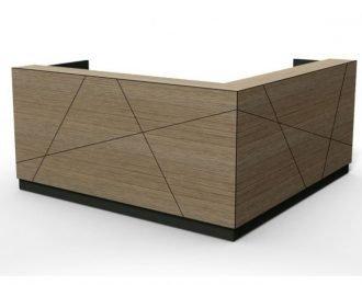 Low price but unique feature tile line Wooden reception desk for office