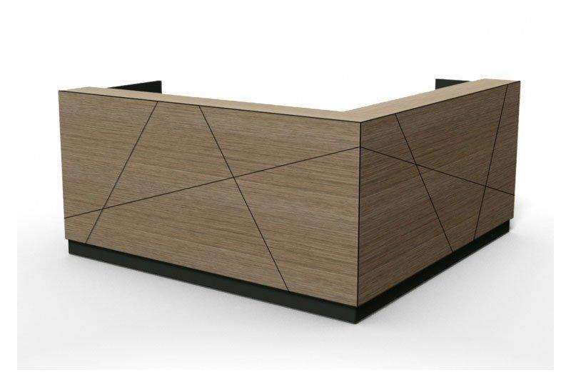 wood office reception desk