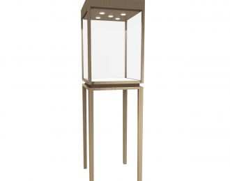 Stainless Steel Jewellery Pedestal Tower Display Case With Led Light