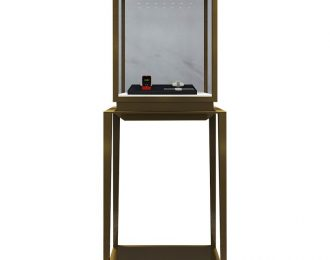 Stainless Steel Vitrine Top Pedestal Table Showcase Stand