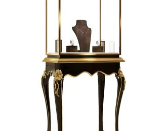 Vitrine Top Queen Anne Leg Museum Display Case for Jewellery