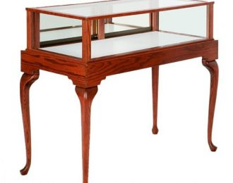 1.2 Meter Oak Wood Queen Anne Jewelry Display Case | $680/pc