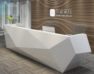 Creative modern office reception desk design with baking painting finish