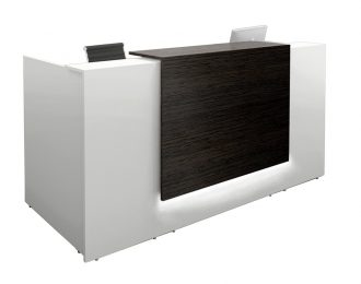 Wenge Feature Front Panel Small Office Reception Desk Counter