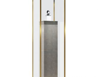 Chrome Stainless Steel Pedestal Showcase Stand for Jewelry & Watch