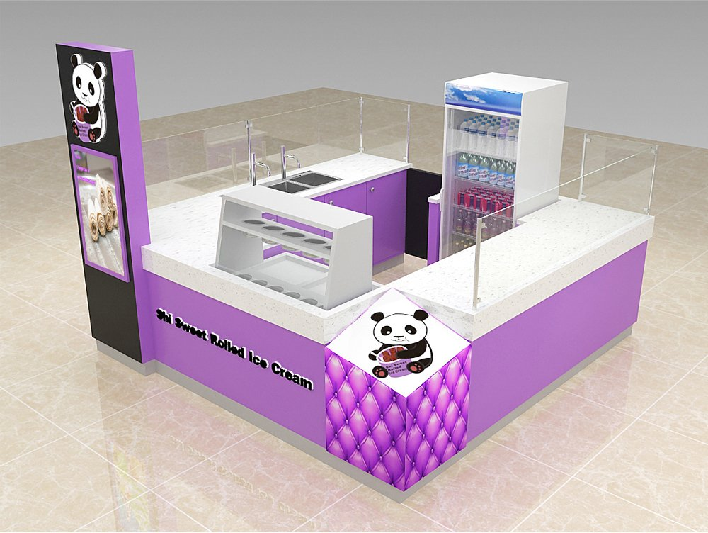 ice cream booth stand