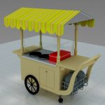 Portable crepe cart
