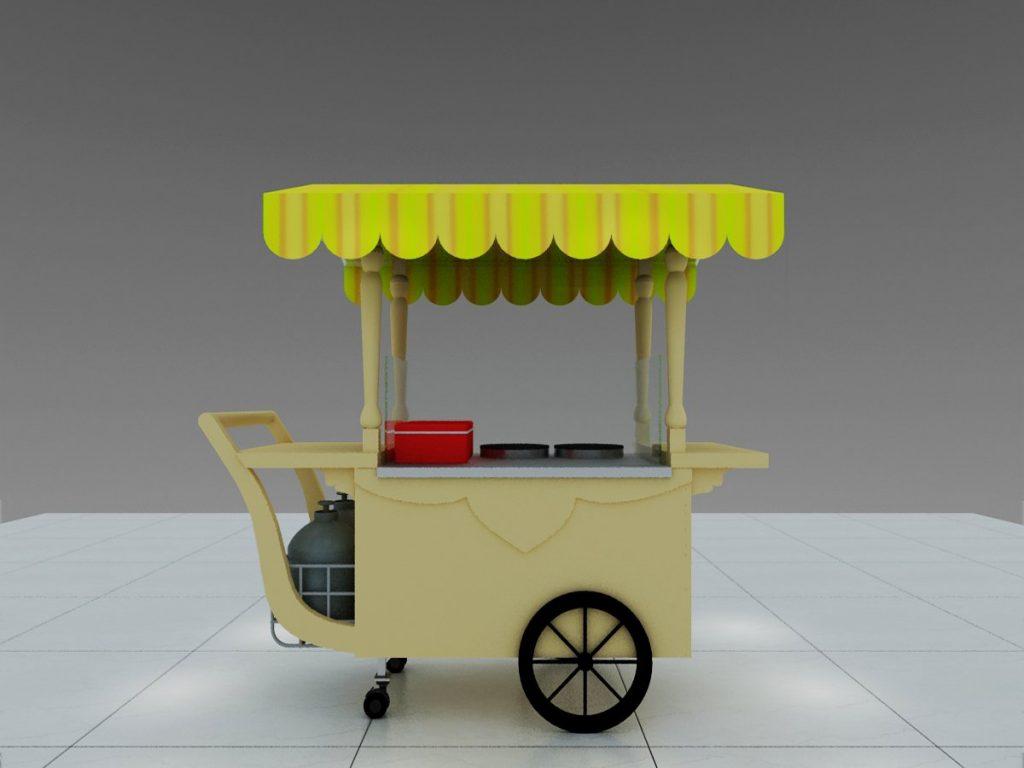 portable crepe cart