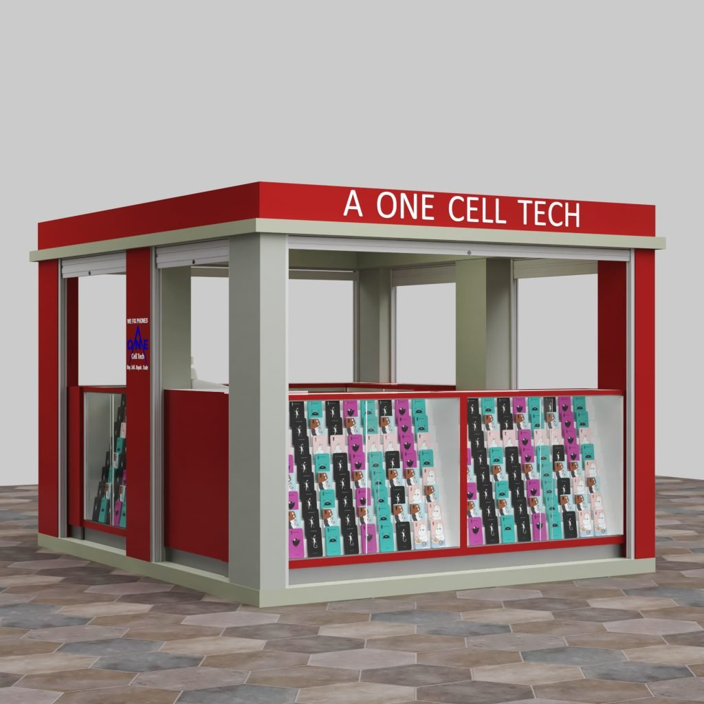 outdoor phone repair kiosk