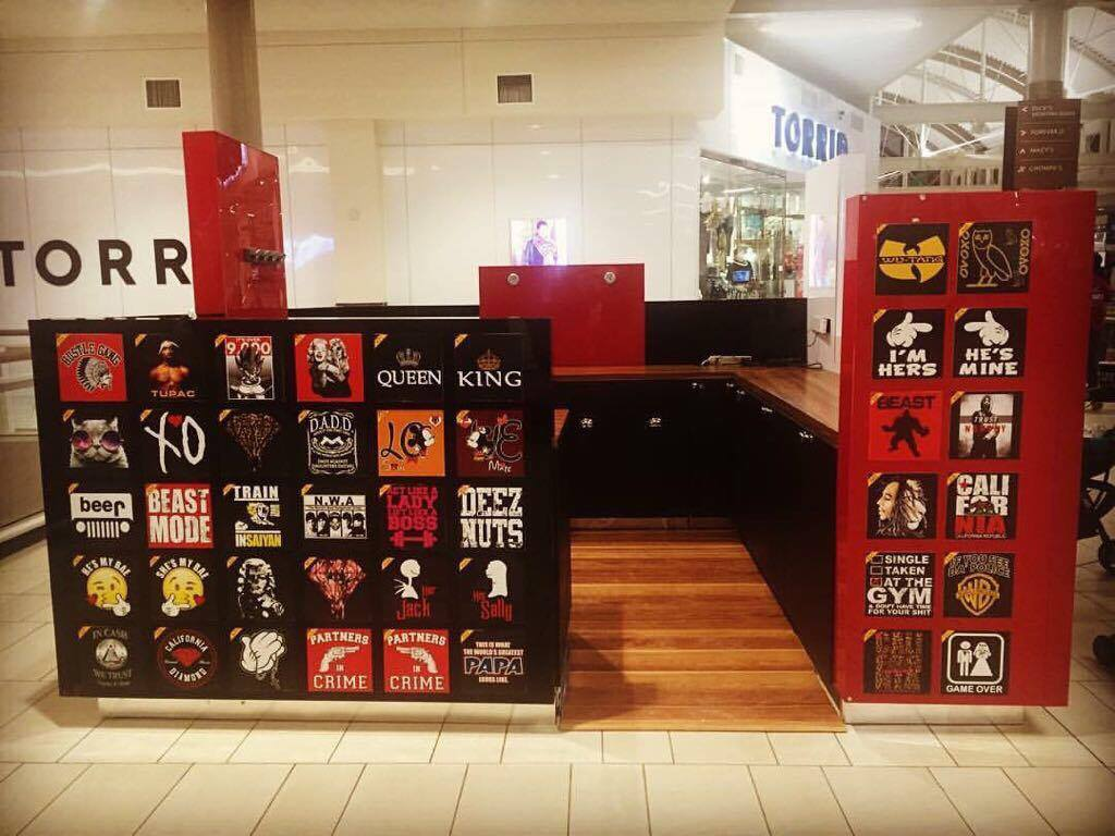 T-shirt kiosk