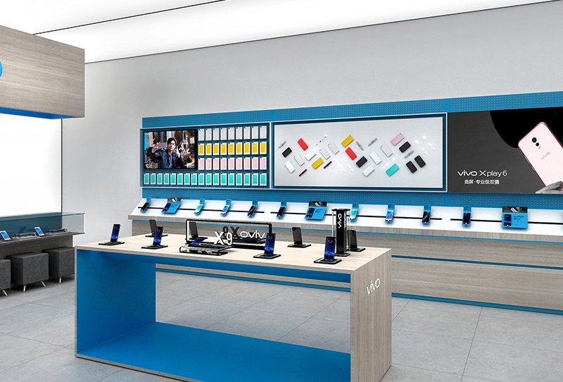 Cell Phone Display Showcase For Mobile Phone Shop Interior Design