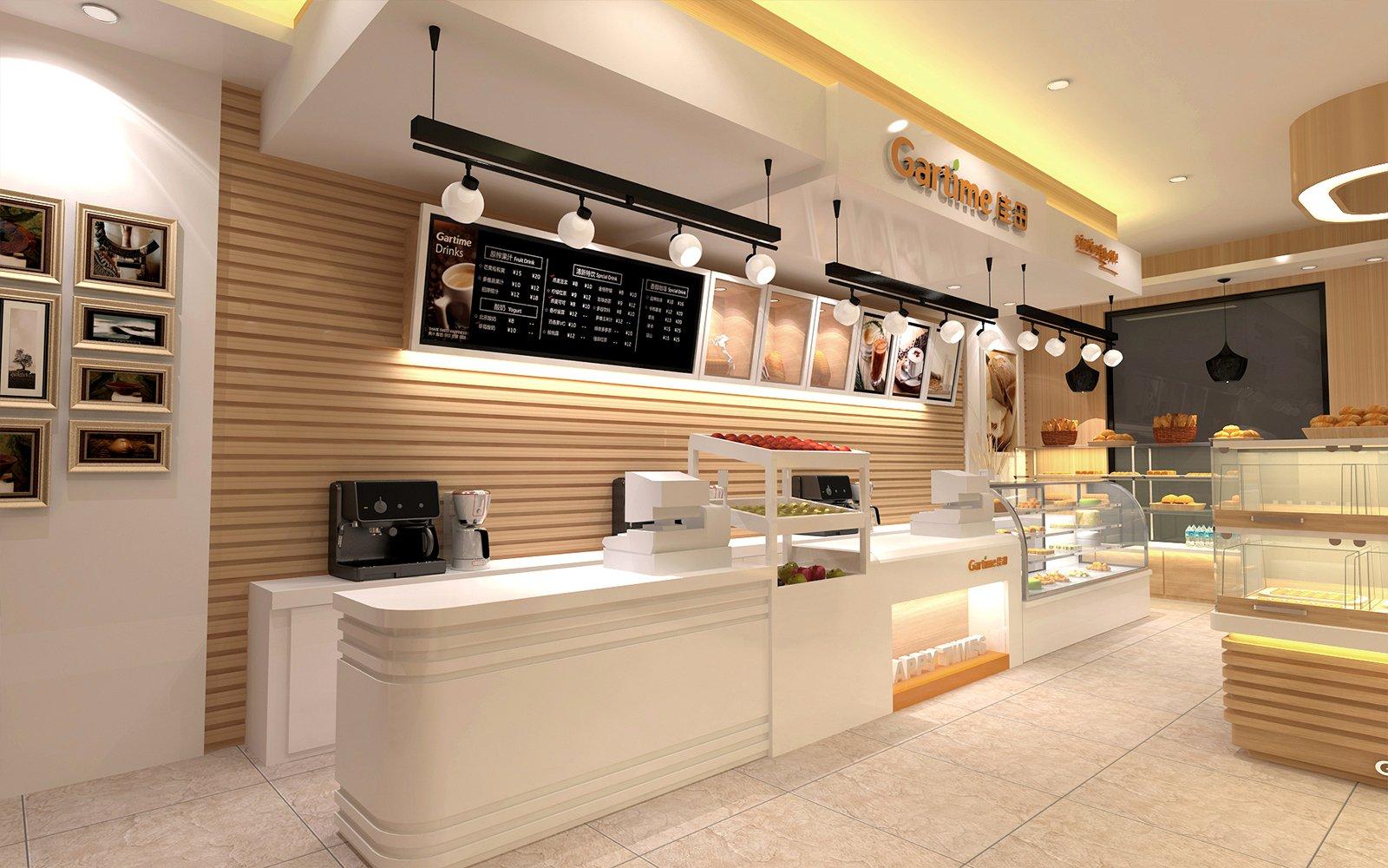 Bread Cake Shop Counter Modern Food Store Fixture 3d Design