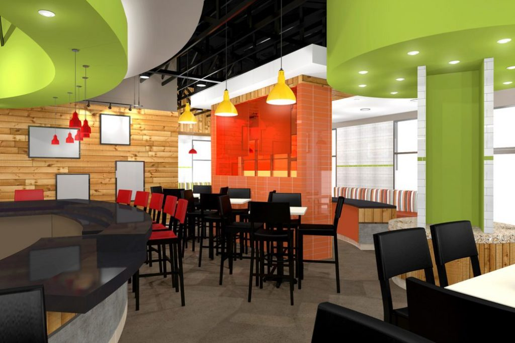 Most Popular Retail Food Restaurant Fast Food Shop Interior Design