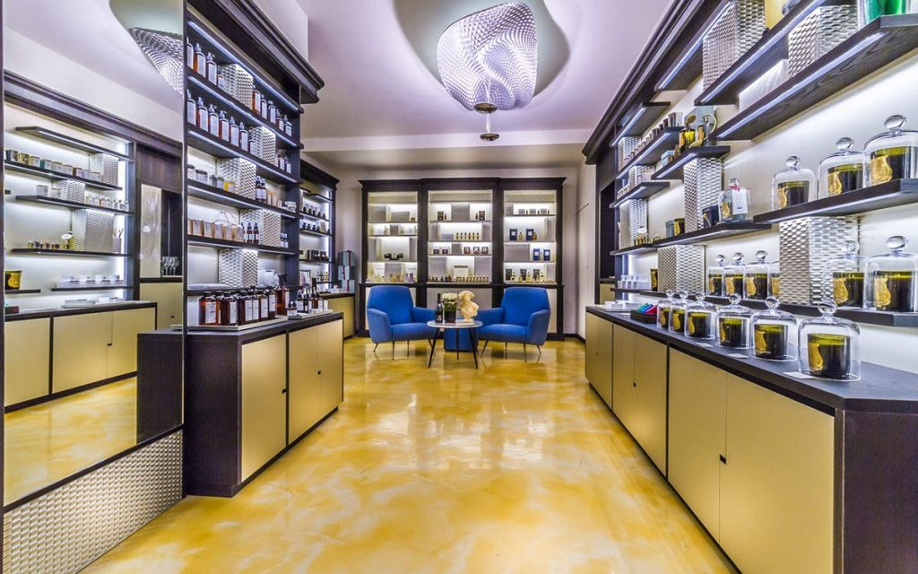 High end luxury perfume store interior design for shop
