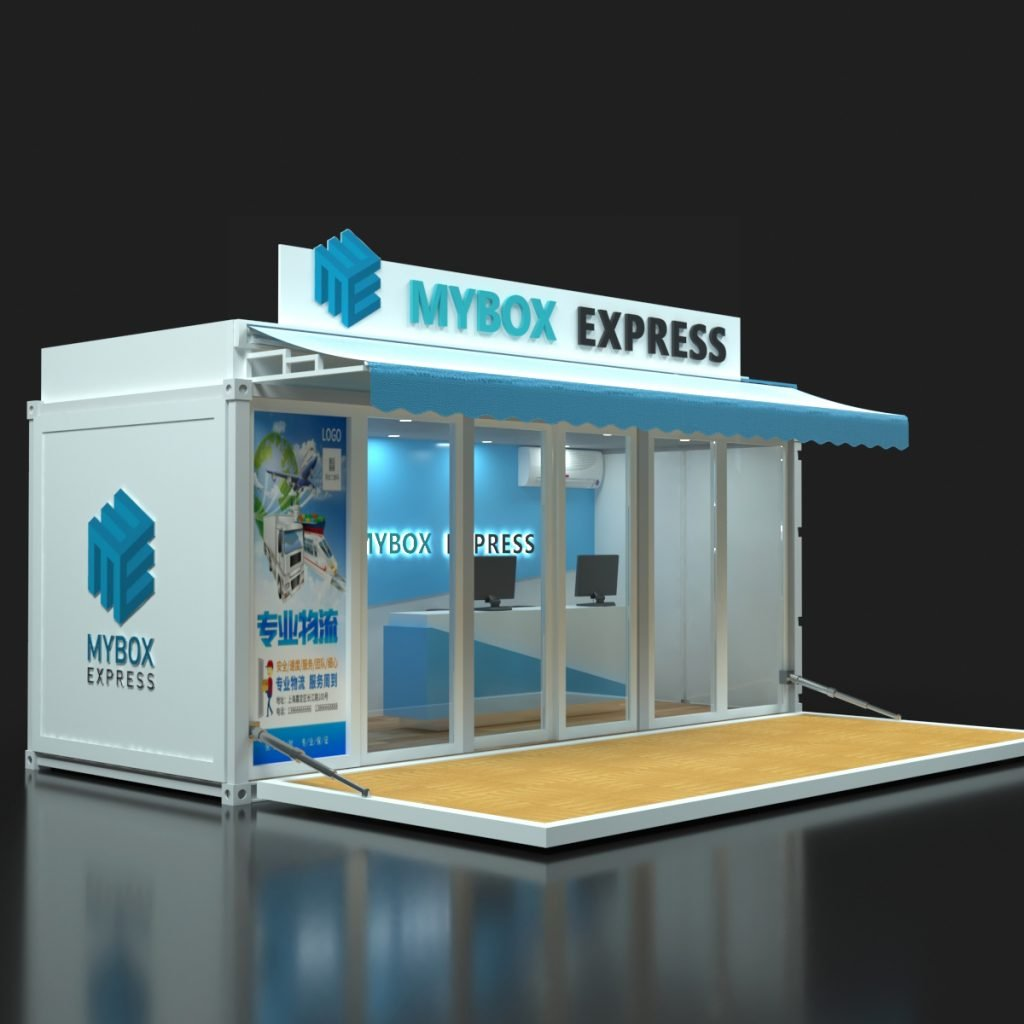 20ft container kiosk